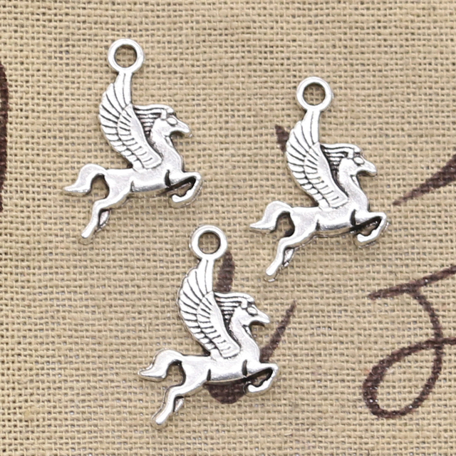 12pcs Charms Pegasus Flying Horse 20x15mm Antique Making Pendant fit,Vintage Tibetan Bronze Silver color,DIY Handmade Jewelry