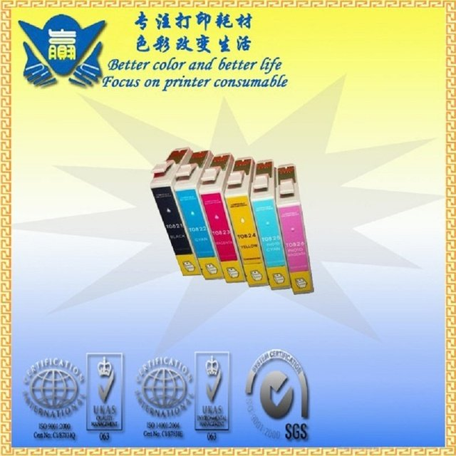 JIANYINGCHEN compatible ink cartridge replacement for Epsons T0821-T0826 for Stylus Photo R270 R390 RX590 RX615 R295(6pcs/lot)