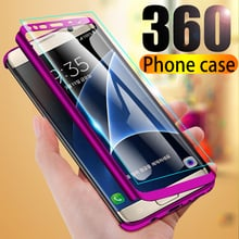 360 degree shockproof phone Case For Samsung galaxy s8 s9 s10 plus Full Cover Case For Samsung Note 9 8 S7 edge Case with glass