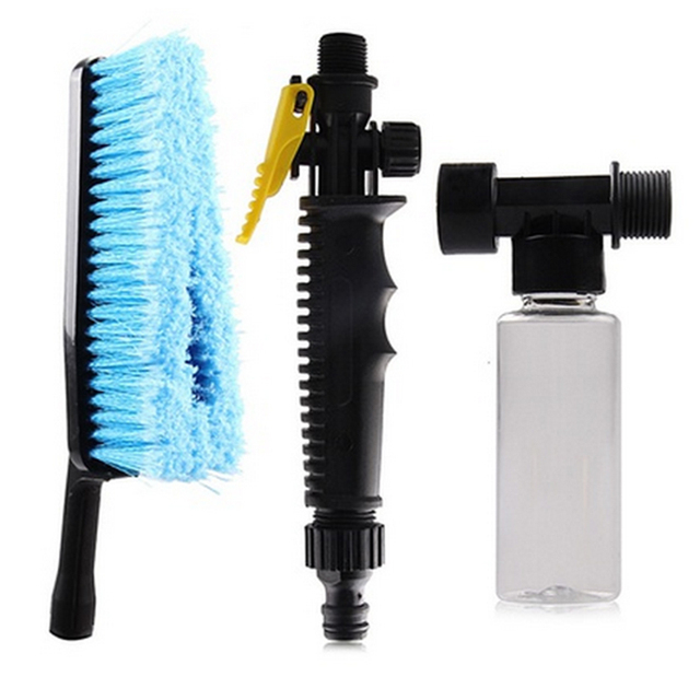 Auto Van Vehicle Truck Cashmere Washing Cleaning Care Hose Adapter Brush