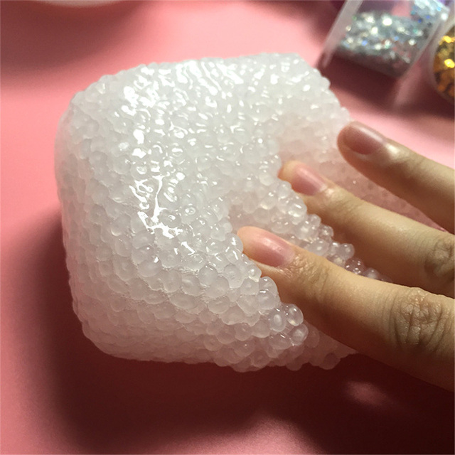 TOFOCO NEW DIY Rice Mud Foam Clear Fluffy Slime DIY Crystal Lizun Dough Anti Stress Sludge Toy Plasticine Modeling Clay for Kids