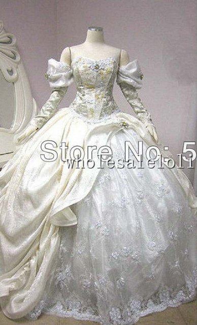 19 Century White Civil War Southern Belle Gown Stage Dresses Victorian Dress