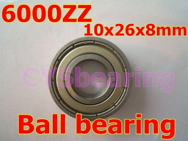 stainless steel 440 S6000ZZ SS6000 6000ZZ 6000-2RS  10X26X8 mm deep groove ball bearing for 10mm shaft