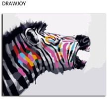 Hot Selling Abstract Zebra Frameless Pictures Painting By Numbers Home Decoration DIY Canvas Oil Painting Handwork Gifts G380