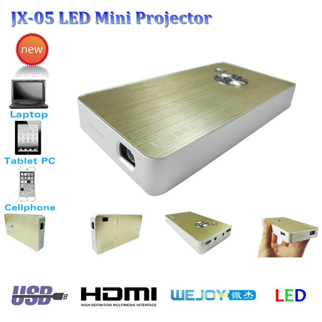 2014 New WEJOY JX-05 LED Mini Projector Home Theater HDMI 1080P Full HD LED Projector  For Video Games TV Movie Portable Hot