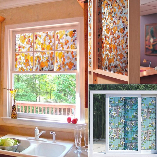 Window Stickers Glass Stickers Window Film Decorative Sticker PVC Window Glass Film Sticker Home Decor Self-adhesive