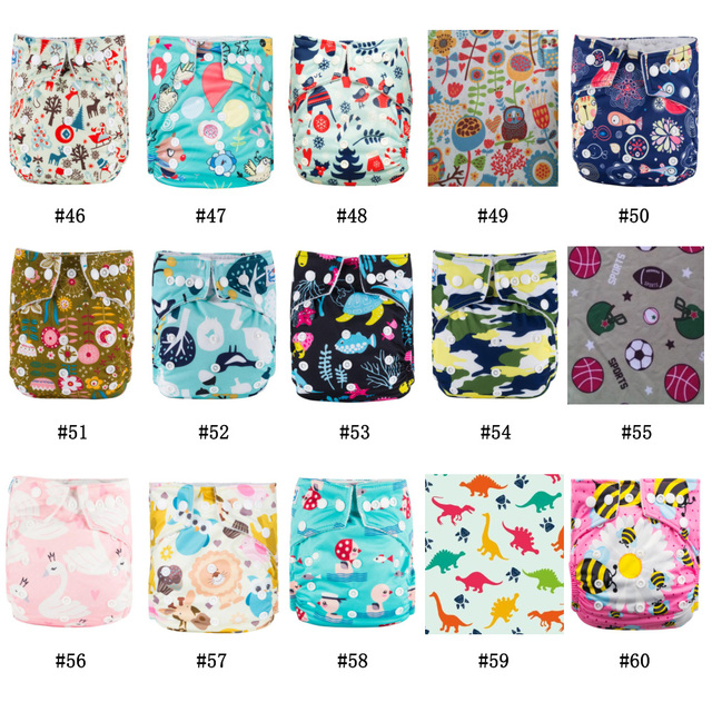 Newest Patterns Babyland Baby Cloth Diaper 10PCS+20PCS Microfiber Insert Free Shipping
