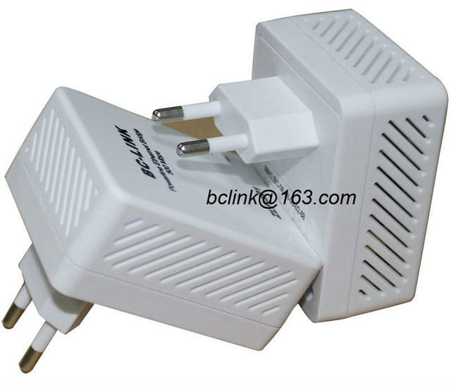 Free shipping+2x500Mbps homeplug powerline ethernet network adapter with EU or US standard