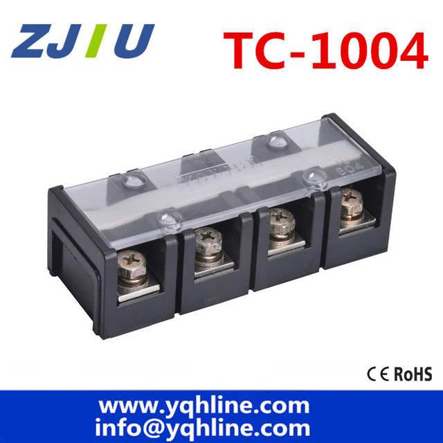 TC-1004  Fixed Terminal Block 600V 100A 4P 4 Positions large current Terminal blocks Universal terminal copper wiring board