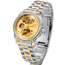 Fashion Brand Stainless Steel skeleton Mechanical Men Watch For Men Automatic mechanical sports Wristwatch  relogio masculino