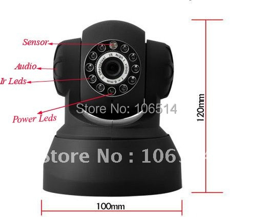 CMOS CCTV Security Night Vision Wireless IP Video Camera With Motion Detection