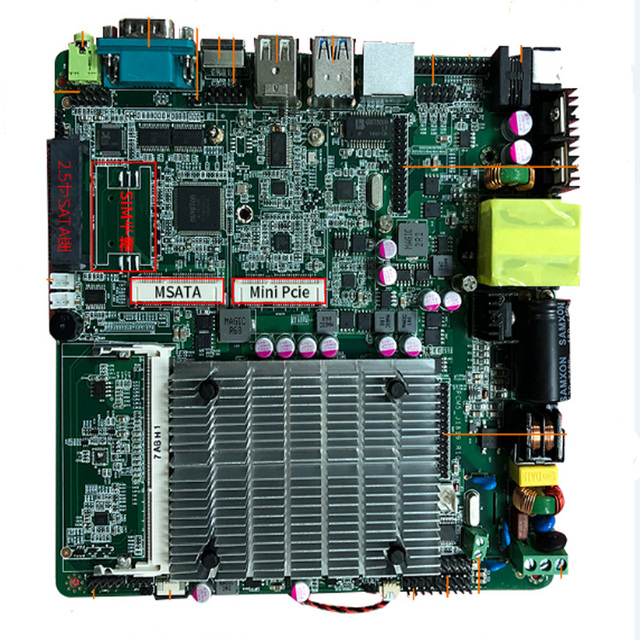 Main board low cost intel celeron J1900 processor itx industrial motherboard 3*USB for vending machine
