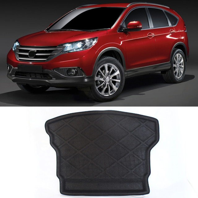 High Quality!! 3D Black Waterproof Dustproof All Weather For Honda For CR-V 2012-2015 Rear Car Auto Cargo Truck Mat Tray Liner