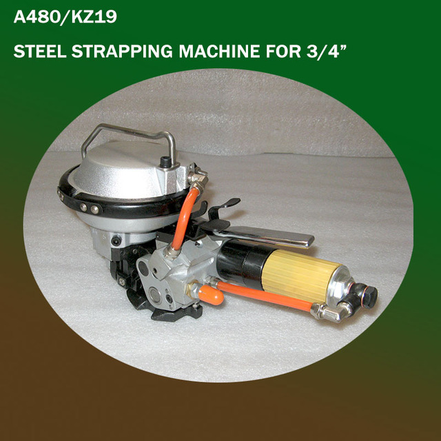 Guarantee 100% New A480/KZ-19 Pneumatic Combination Steel Band Strapping Tool,steel strapping machine for 13/16/19mm Steel Strap