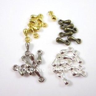 3*7MM 800Pcs Mixed 4 Colors Crimp Beads Chain End Drop Jewelry Findings Components Jewelery Accessories