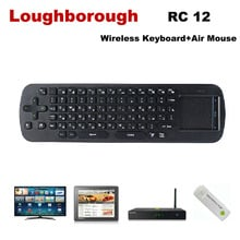 Free shipping 2013 NEW Air Mouse RC12 2.4GHz wireless Keyboard Touch Pad for google android Mini PC TV Palyer box