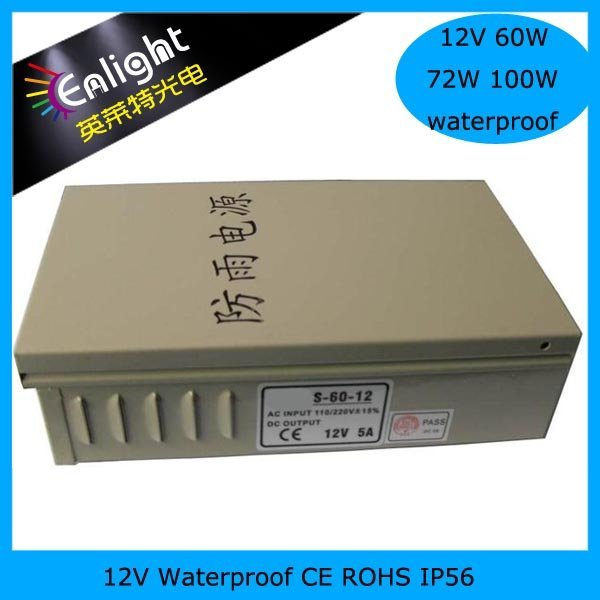 12V 60W 5A Rainproof power supply,12V5A led outdoor power supply, 12V 60W led driver, led outdoor power supply