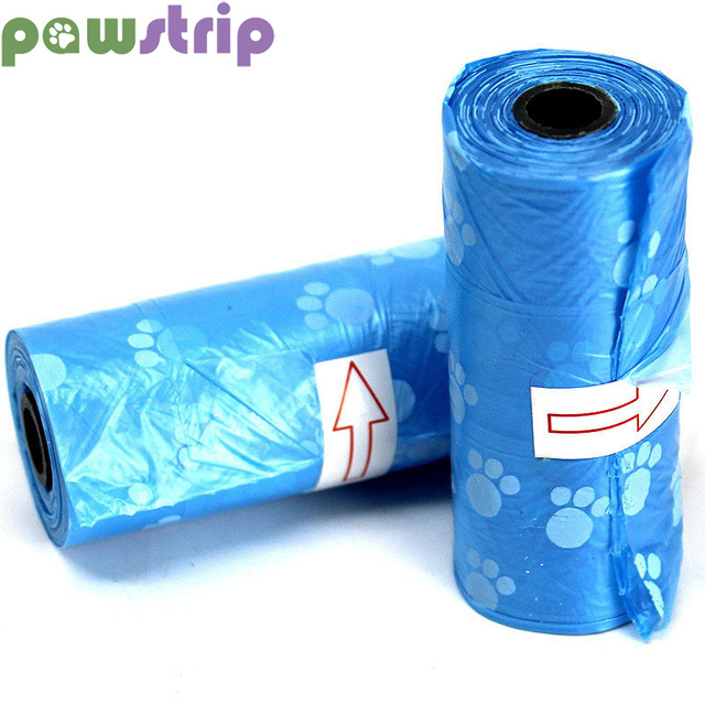 pawstrip 1 Roll Eco-Friendly Dog Poop Bag Outdoor Portable Dog Waste Bag Disposable Pet Pick Up Bag(1 roll including 15pcs bags)