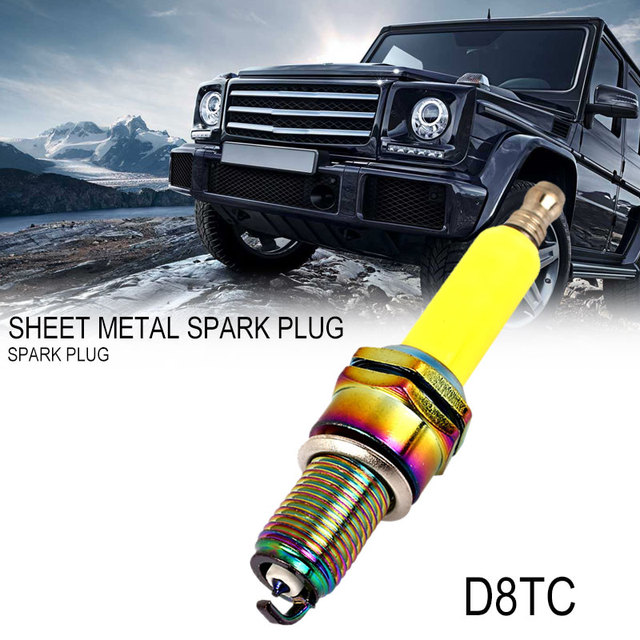 Spark Plug ATV Autobike Moped Alloy Dirt Bike Autocycle Scooter D8TC Iridium Ignition Kart Scooter Spark Plug