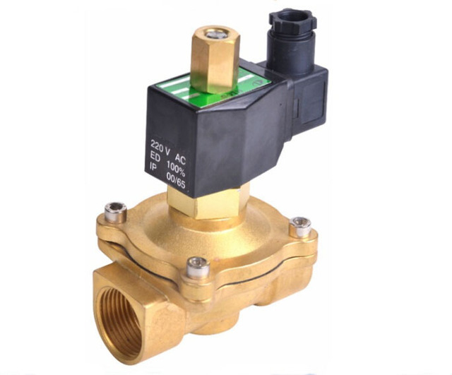1 1/2 inch   2W series normally open solenoid valve brass electromagnetic valve air ,water,oil,gas