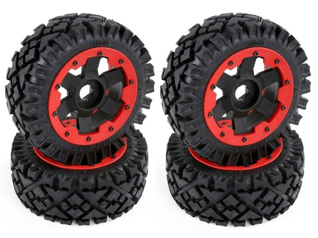 Multi-road all terrain tire assembly for HPI KM ROVAN BAJA 5B