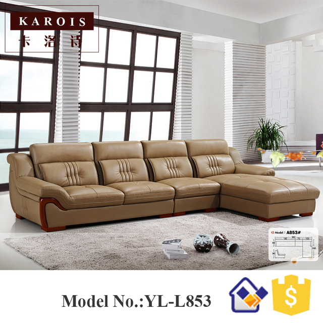 Modern Heated Top Leather Simple Design L Shape Sectional Sofa Corner Sofa Living Room Furniture Buy Cheap In An Online Store With Delivery Price Comparison Specifications Photos And Customer Reviews