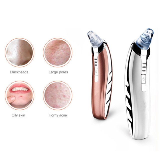 Electric Face Massager Suction Blackhead Vacuum Cleansing Tool Acne Clean Exfoliating Face Cleaner Horny Facial Machines