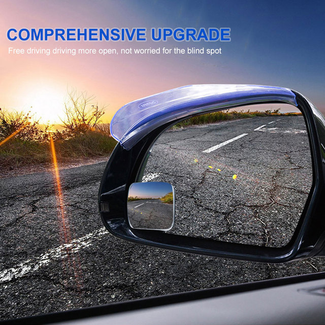 Car Rearview Mirror Auxiliary Mirrors Square Adjustable Blind Spot External