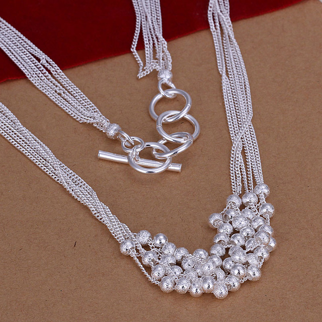 Fashion silver matte beads chokers necklace party accessories classic women jewelry good quality factory price wholesale