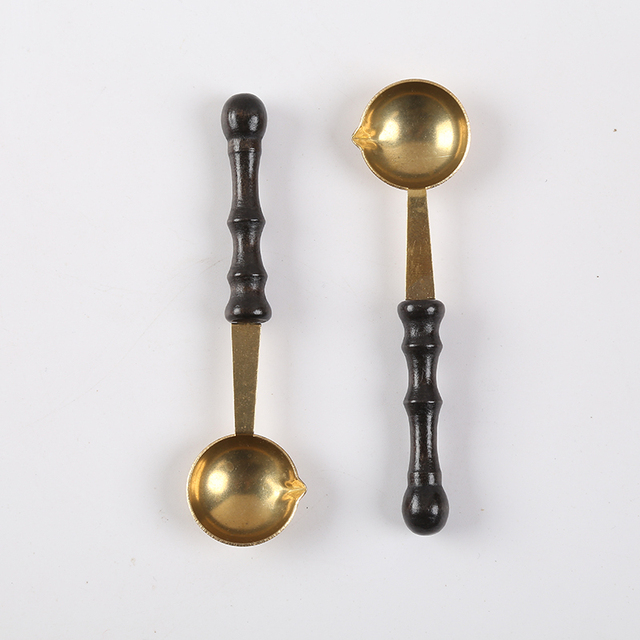Wooden Handle + Copper Spoon Use A Lacquered Spoon Spoon Is A Beak Design Not Hot Burning on Fire Wooden Handle Golden Code