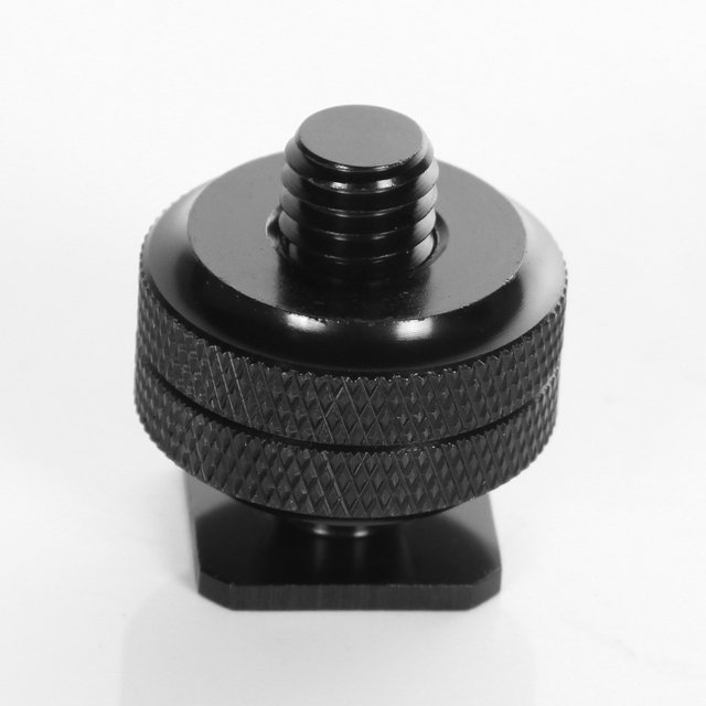 """3/8""""to Cold Foot Screw Adapter for Camera Hot Shoe Mount Double Nut Flash Holder"""
