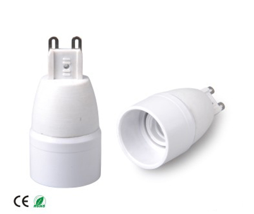 10pcs lamp base G9 to E14 lamp holder Flame retardant PBT CE & RoHS & UL  holder adapter E14 to G9 adapter converter