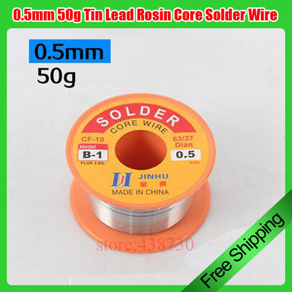 1 Pcs 0.5mm 50g Tin Lead Rosin Core Solder Wire Soldering Reel Weld Wire High Quality