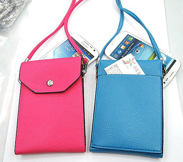 """New Stylish halter-neck rope cell phone pouch for phone below 5.5"""" smart phone, for iphone universal bag case phone cover pocket"""