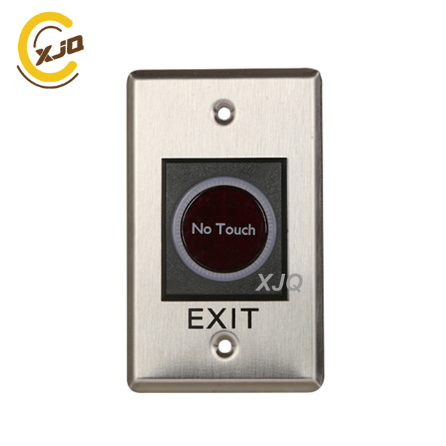XJQ Stainless Steel infrared sensor door exit switch access control system accessories push button   GB-808A exit button