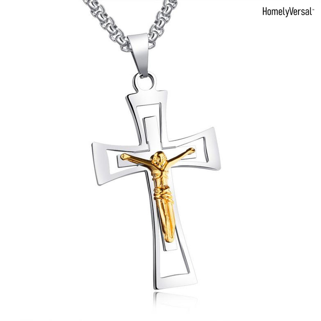 Simple fashion phone pendant decoration Church Relics Crucifix Jesus Christ On The Stand Cross Wall jewelry pendant hanging gift