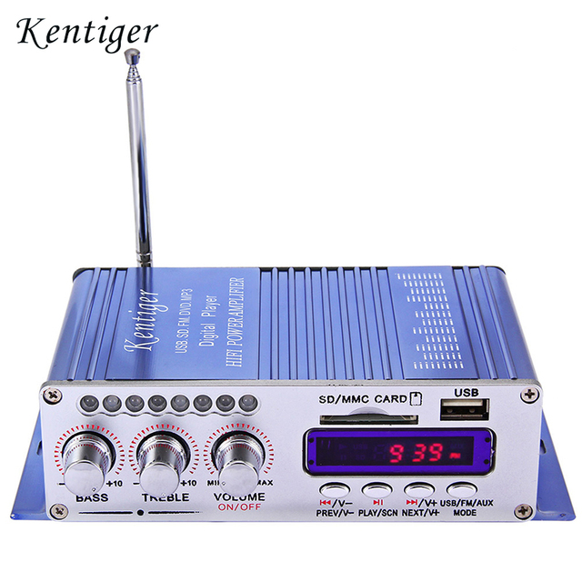 Kentiger HY-502 Hi-Fi Digital Car Amplifier Sound Mode Stereo Auto LED Audio Music Player Support USB MP3 DVD SD FM for Car