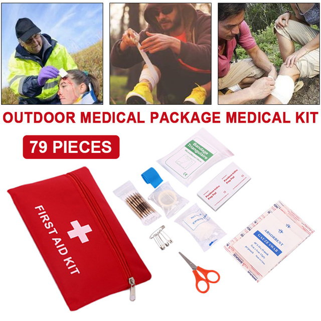 14PCS Multipurpose Emergency Medical Kit Hemostasis Outdoor First Aid Treatment First Aid Kit First Aid Bag Drugs