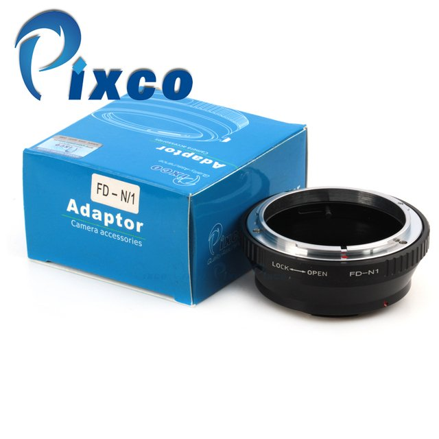 Pixco Lens adapter Ring WORK For Canon FD Lens to Nikon 1 Mount Camera Adapter Ring for J1 V1 Without Tripod Mount