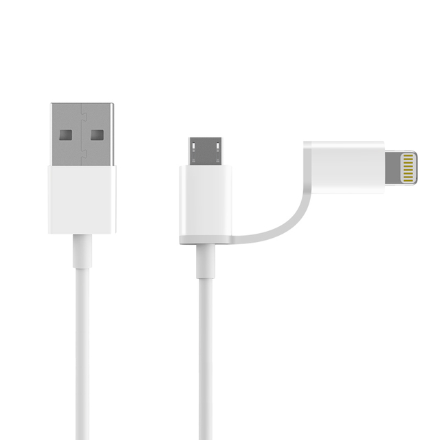 Original Xiaomi ZMI MFI Certified for iPhone Lightning to Micro USB Cable Data 2 in 1 Charger Cable for iPad Samsung Huawei