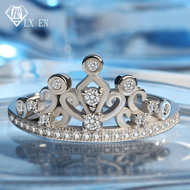 LXOEN 2019 New Fashion Women Wedding Rings with Zircon Ethnic Engagement Ring Party Jewelry Accessories Anillos Mujer Anel Bague