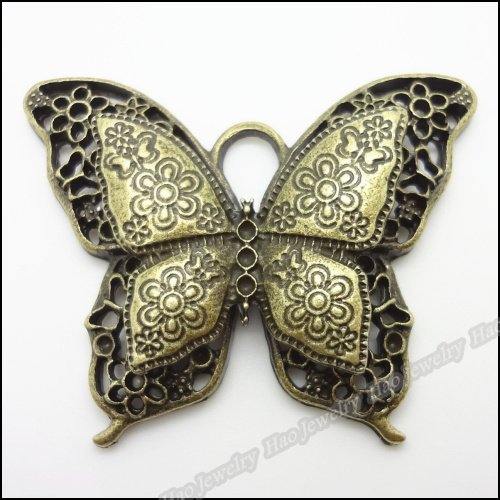 2pcs Vintage Ancient Butterfly zinc alloy charms pendant suitable for DIY Bracelet Necklace metal jewelry accessories