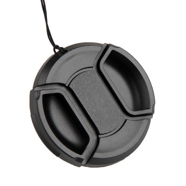 Camera Accessories49 52 55 58 62 67 72 77 82mm center-pinch Front Lens Cap/Cover lens Filter with cord Brand good hotselling