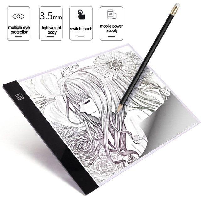 A4 LED Digital Graphic Tablet Artist Thin Art Stencil Drawing Board Light Box Tracing Writing Portable Electronic drawing Pads