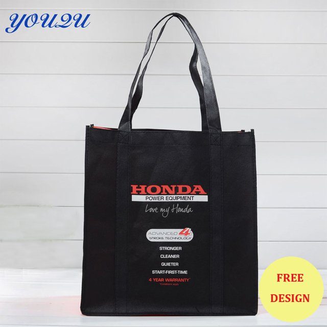 500pcs/lot customized non woven shopping bag,non woven bag with custom logo printing