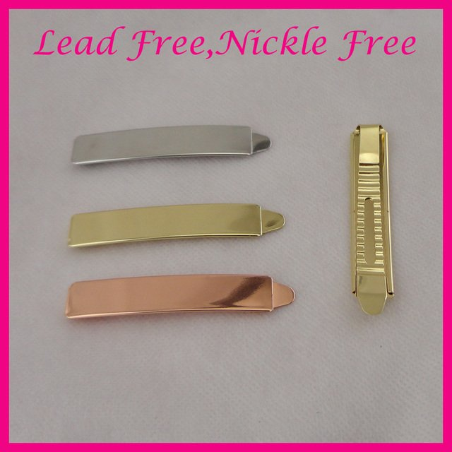 2PCS 1.3CM*7.2cm shiny Plain Metal Slide Bobby pins girl's hair barrettes for women girls bridal hairpins lead free nickle free