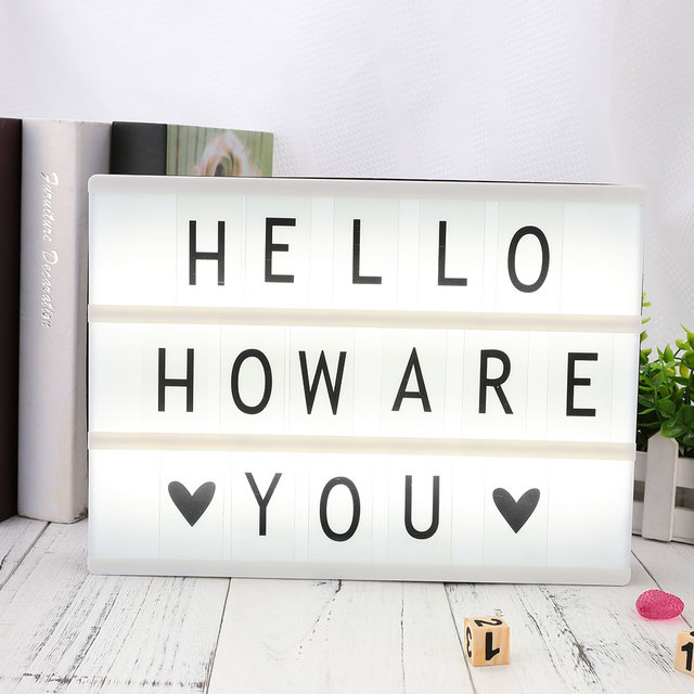 85pcs Replacement A4 Light Up Box Letters Cards Sign LED Cinematic Gift