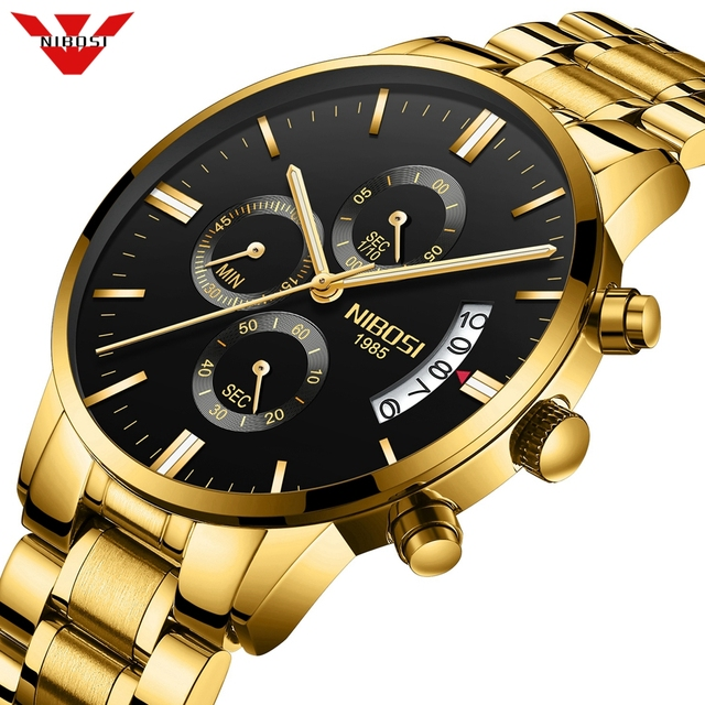 NIBOSI Mens Watches Top Brand Luxury Militray Sport Quartz Watch Men Waterproof Male Sport Clock Wristwatches Relogio Masculino