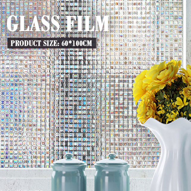 PVC Static Film 3D Window Bathroom Economic Anti UV Living Room Office Glass Sticker Beautiful Kitchen Glass Film Frosted Door