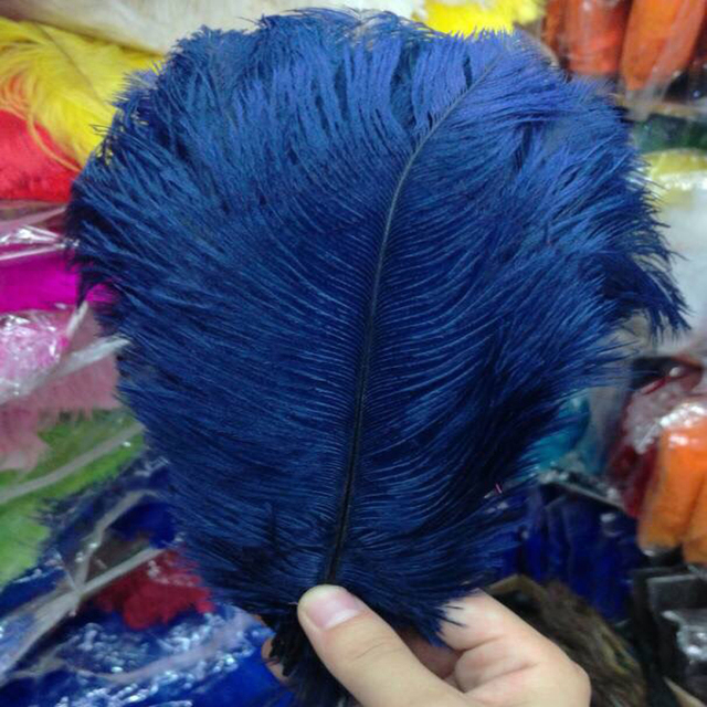 Free shipping 200pcs/ lot 12-14inch 30-35cm navy blue ostrich feather wholesale ostrich plumes wedding centerpieces